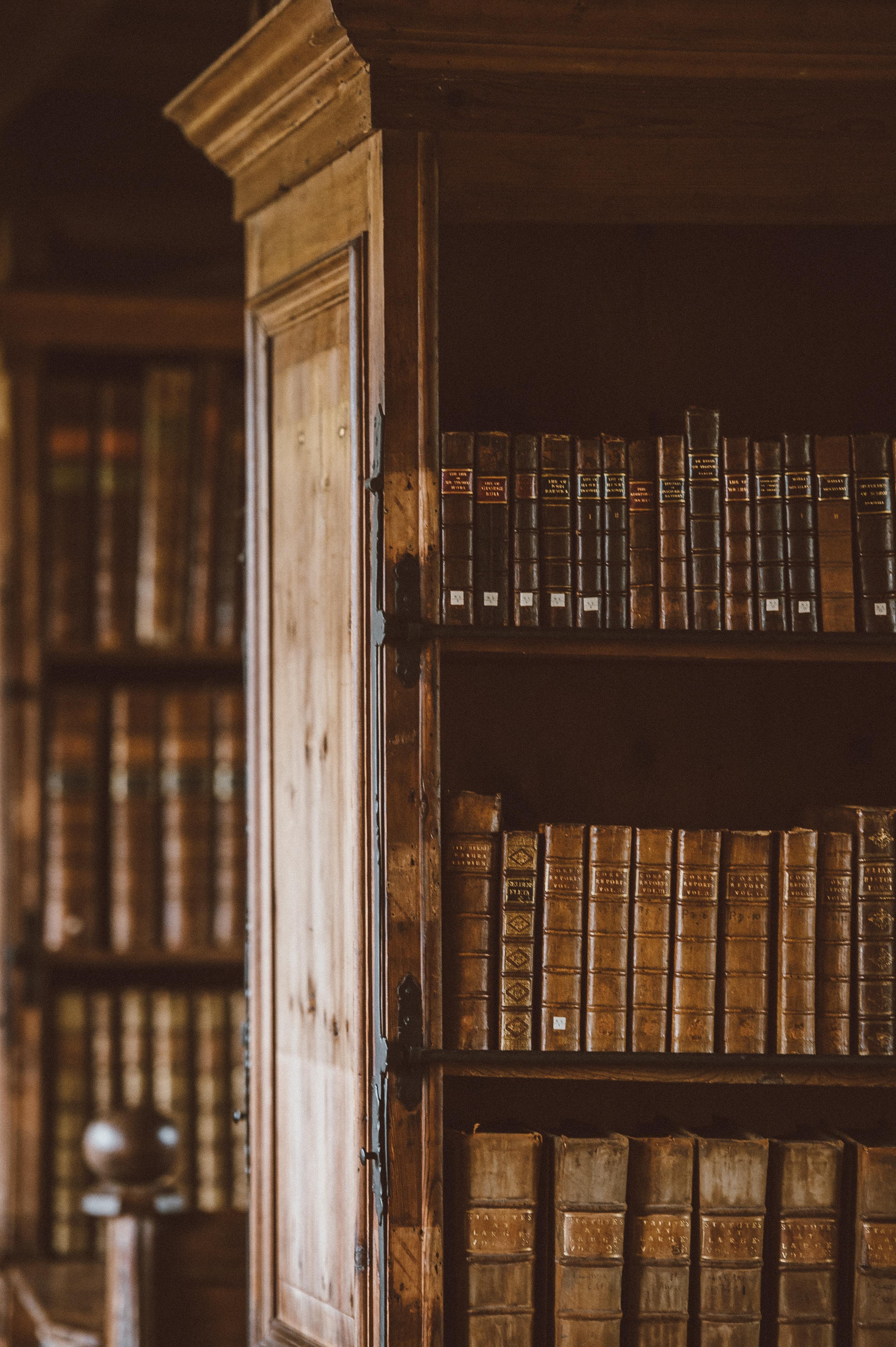 Book shelf of books