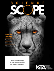 Magazine cover featuring a cheetah