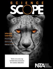 Magazine cover featuring a cheetah