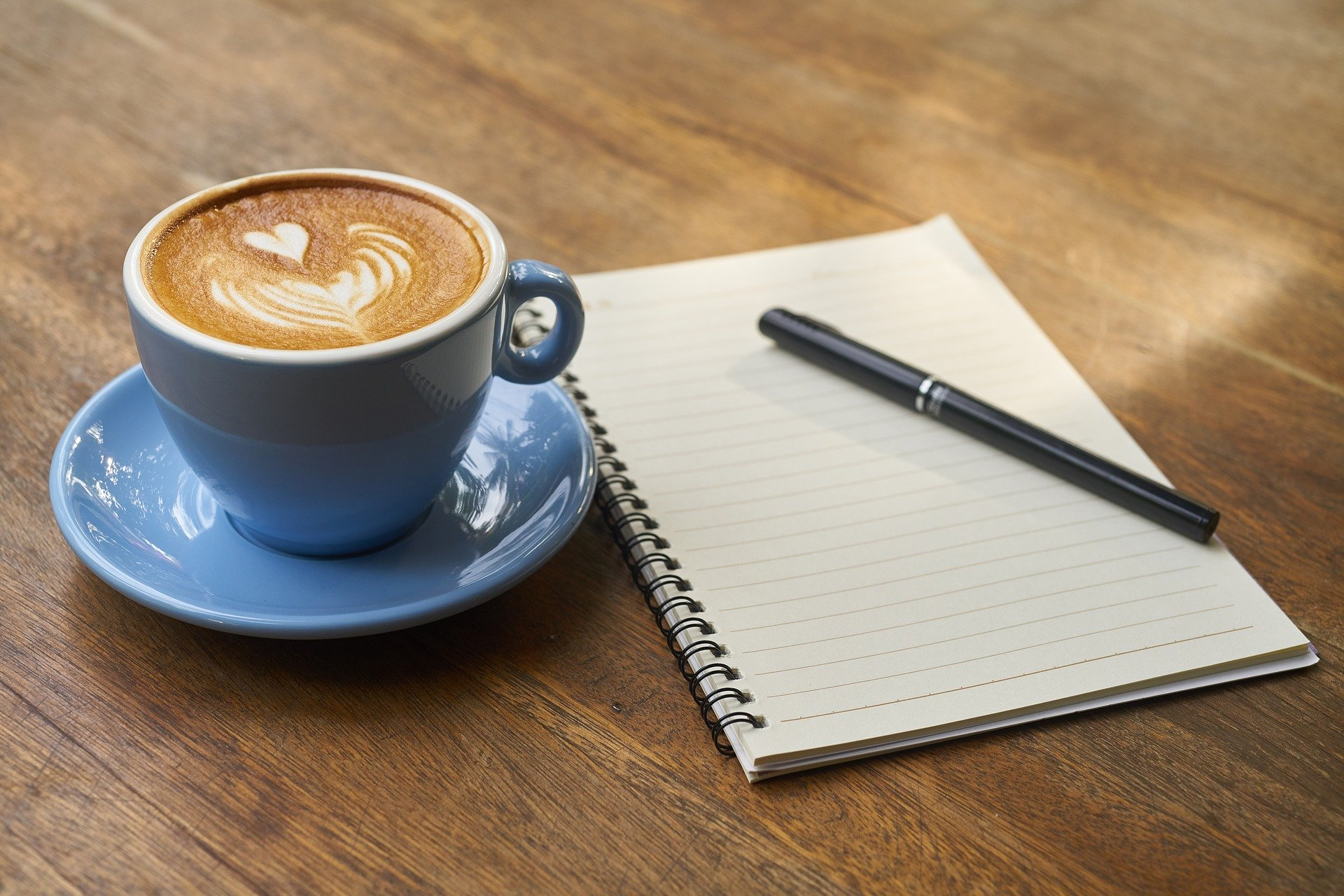 coffee and a notebook